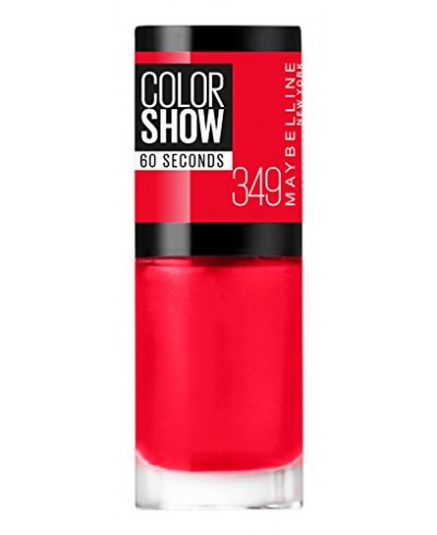Maybelline color show nº 349 power red